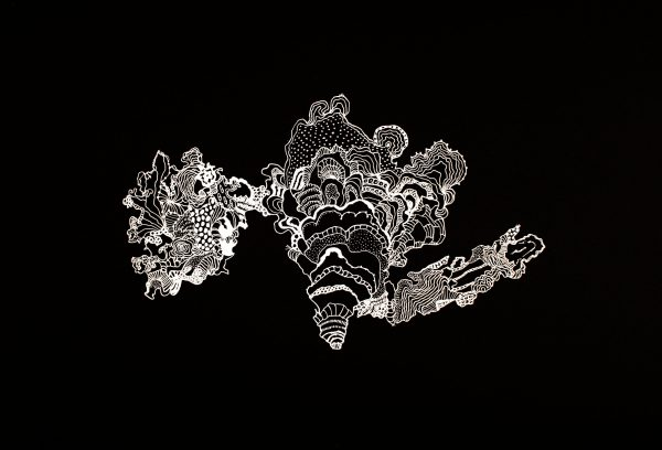 Andrea Guerzoni, Tentativo di misurazione (Tassonomia biologica dell'ansia), 2016, tempera acrilica su carta, cm 50x60