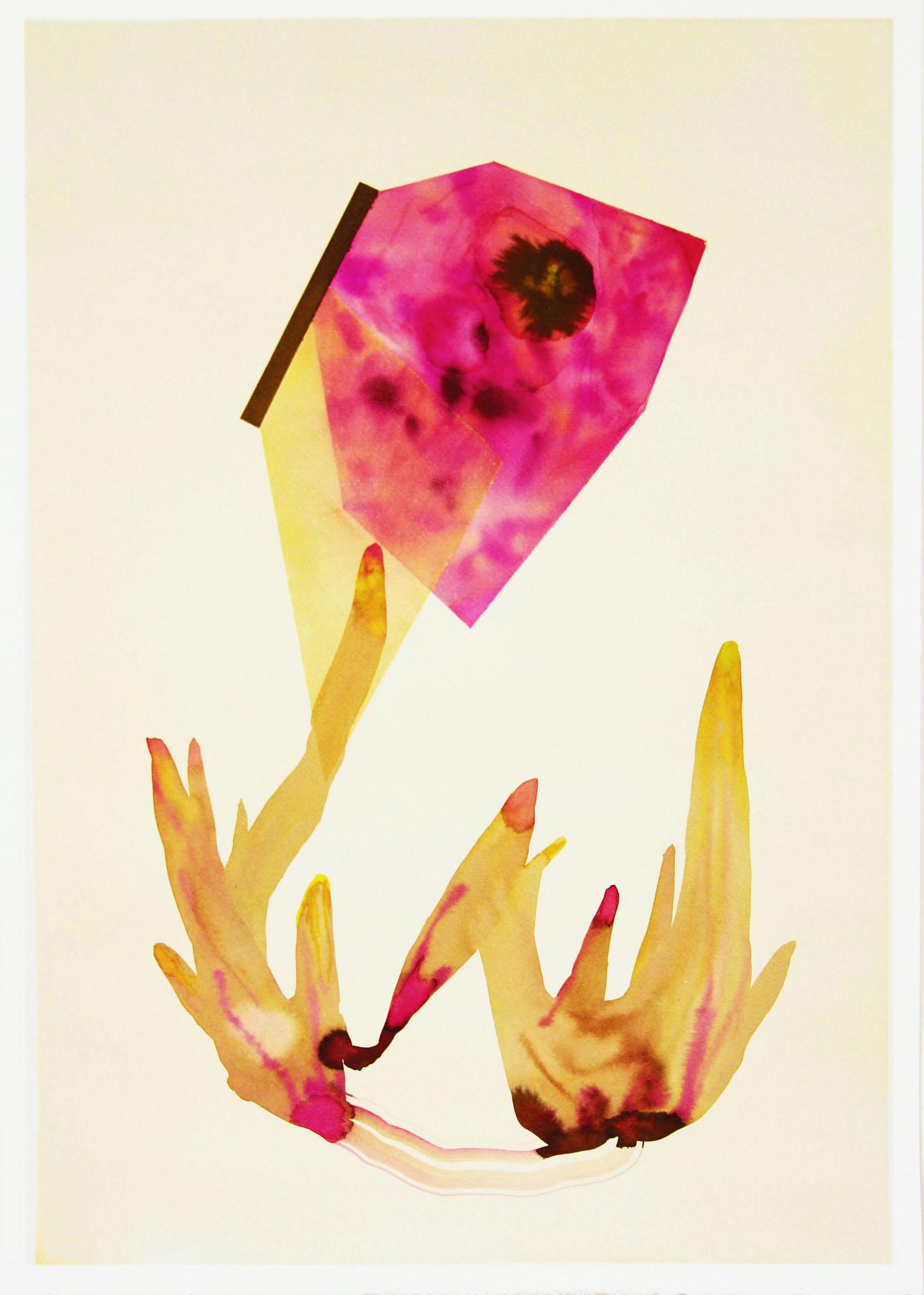 Isabella Nazzarri, Sistema Innaturale 10, acquerello su carta, 70x50 cm, 2015