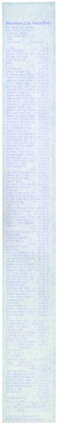Monochrome Till Receipts (white), 2005, cm 60x7