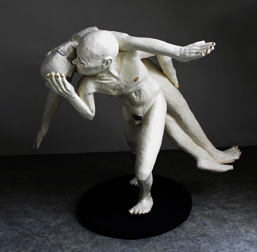 Miro Trubac, Pieta, 2018, resina epossidica colorata, 133x86x118 cm