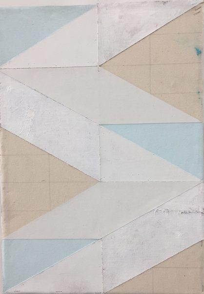 Michael Conrads, Untitled, 2017, Various fabrics, acrylic paint, on canvas, cm 53x38