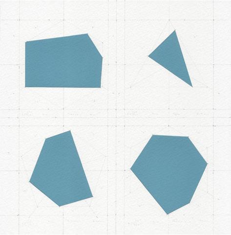 James Brooks, Piazza Del Duomo - Milano, Civic piazze serie, 2017, gouache, bisturi e matita su carta da acquerello, 21 x 21cm