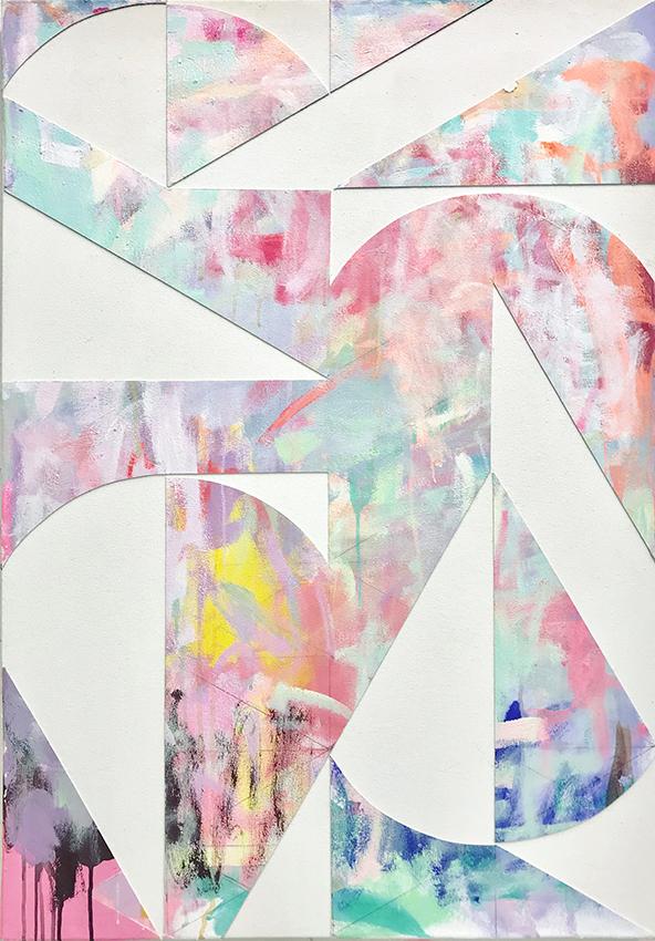 Michael Conrads, Serifen_1, 2018, Dispersion, Acrylics and canvas on canvas, cm 100 x 70